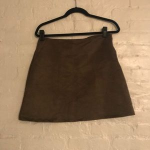Soft Brown Skirt with pockets